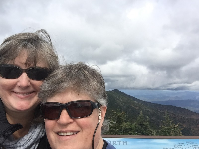ModAvlTreehouse owners on Blue Ridge Parkway