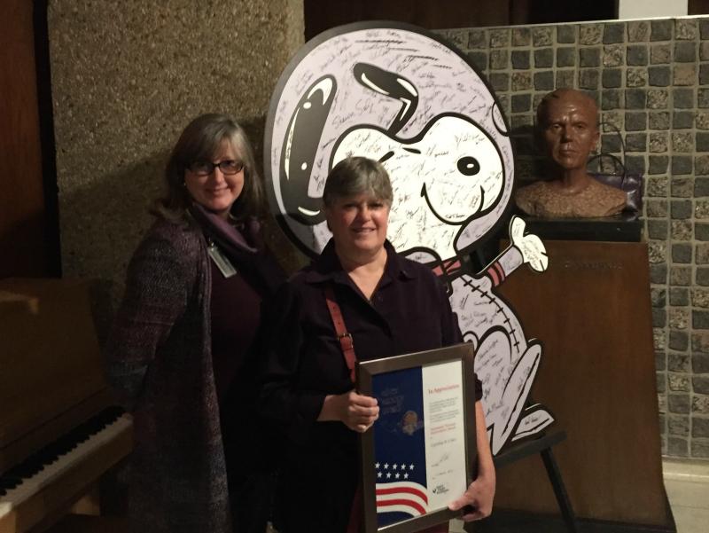 A Pair of Silver Snoopy Award Recipients